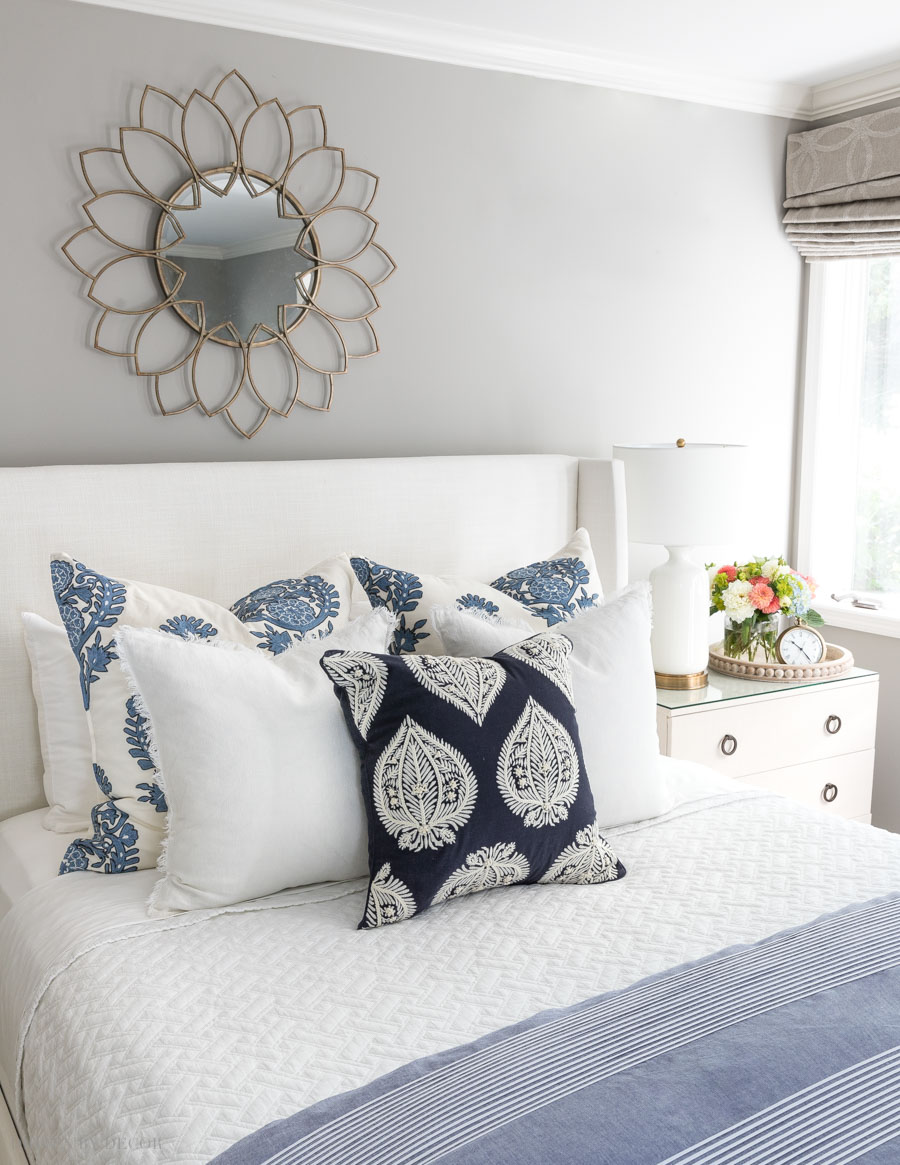 "Love this simple arrangement of pillows - it's one of the five pillow ""formulas"" in this helpful post!"