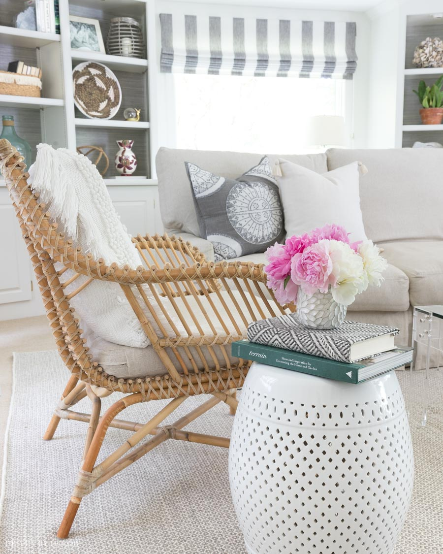 Love this rattan chair in our family - it's comfy too!