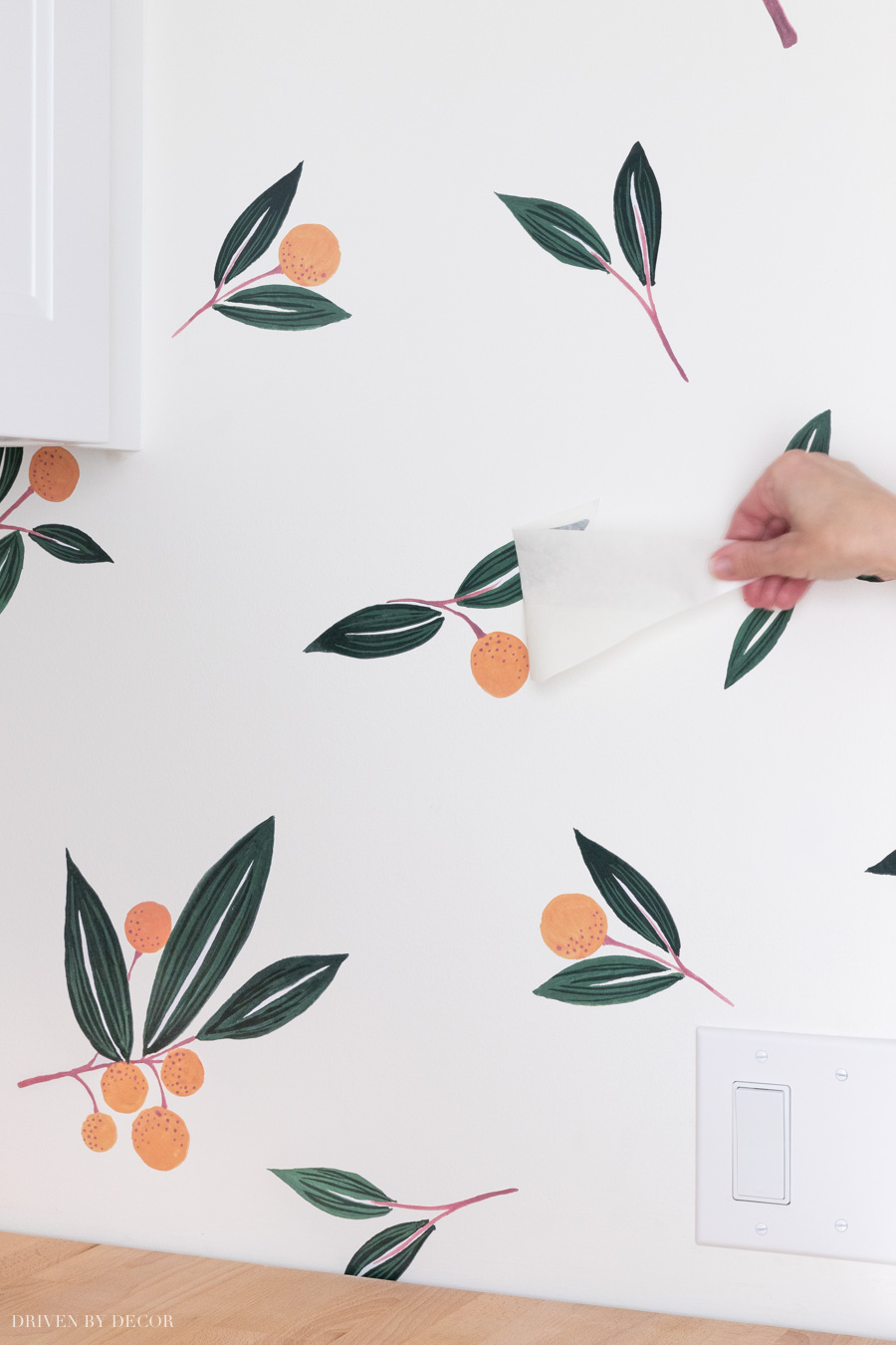 A great step by step on how to apply vinyl wall decals so they look like wallpaper!