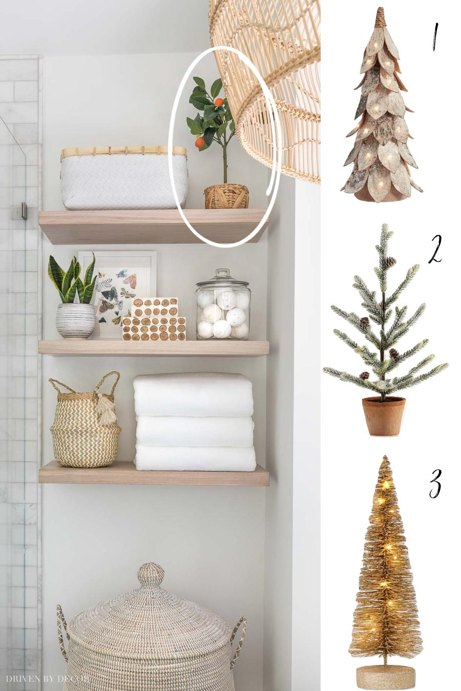 Three tabletop Christmas tree options for decorating smaller spaces!