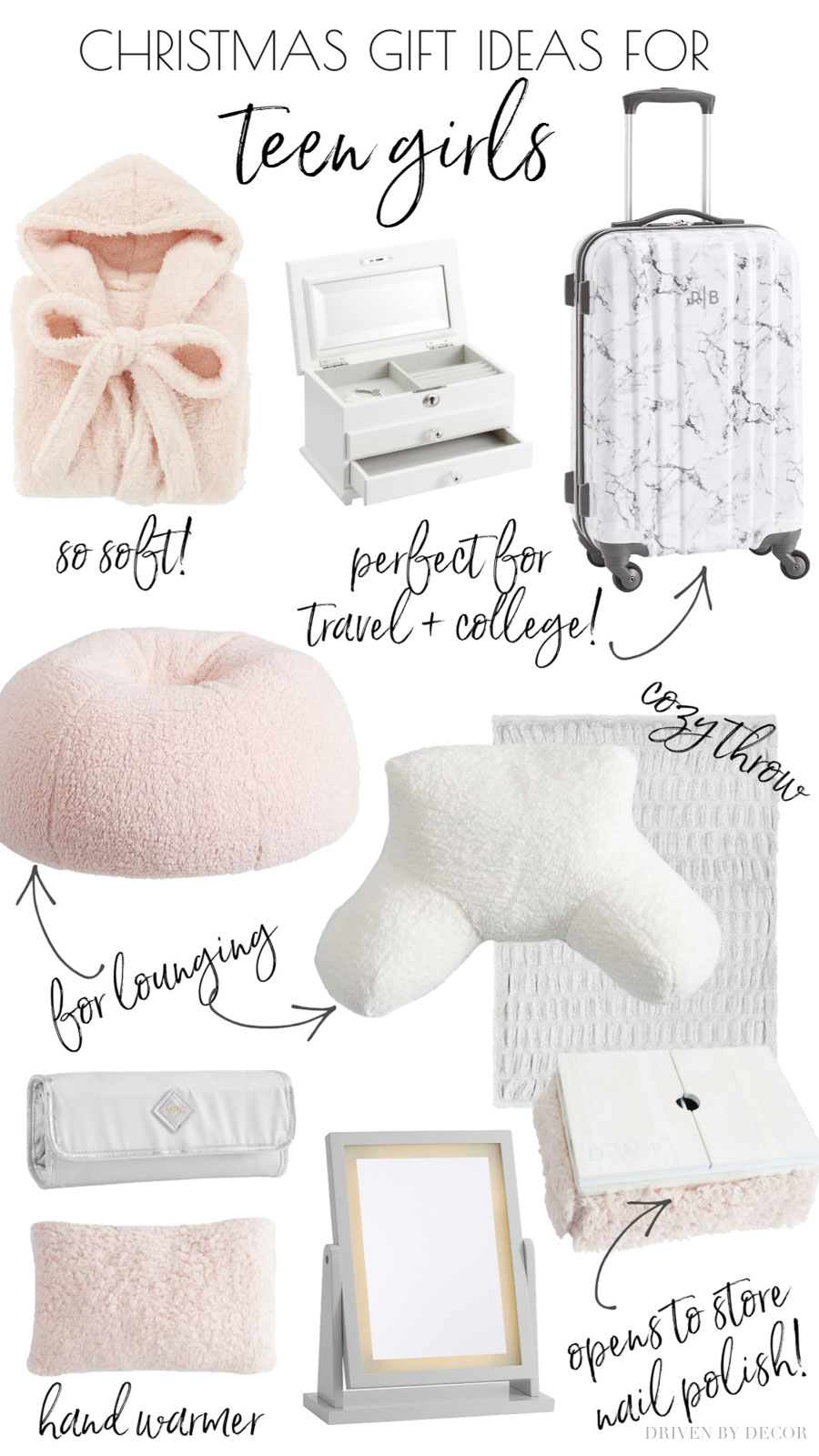 Christmas gift ideas for teen girls - I need this because they're so hard to buy for!!