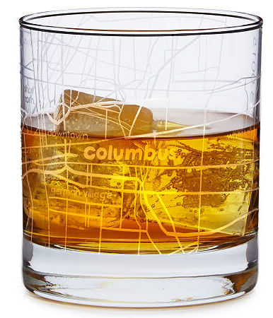 Adding this to my husband's Christmas wish list! Cocktail glasses with a map of his favorite city etched on it!