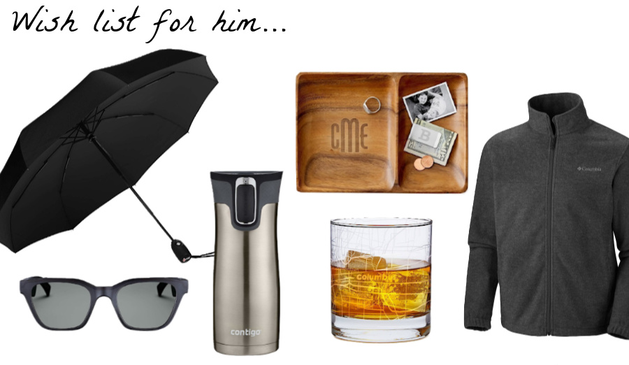 Great gift ideas for him to add to your Christmas wish list!