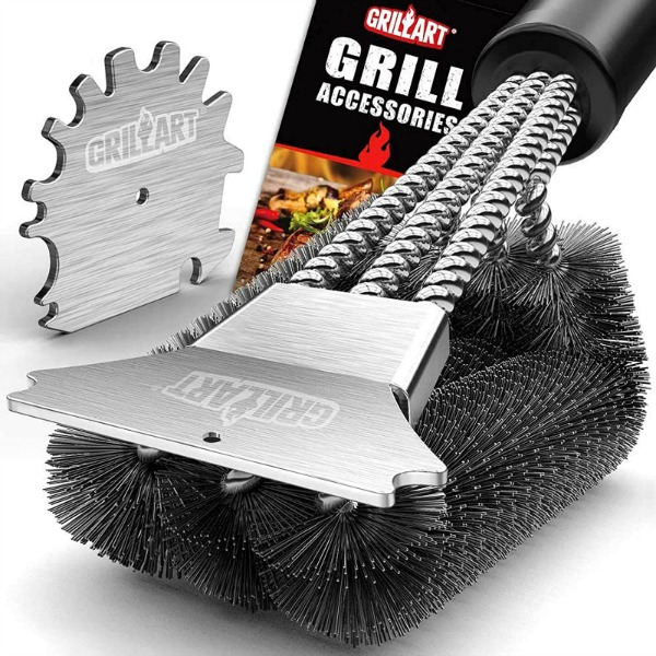 Put this grill brush at the top of your Christmas wish list!