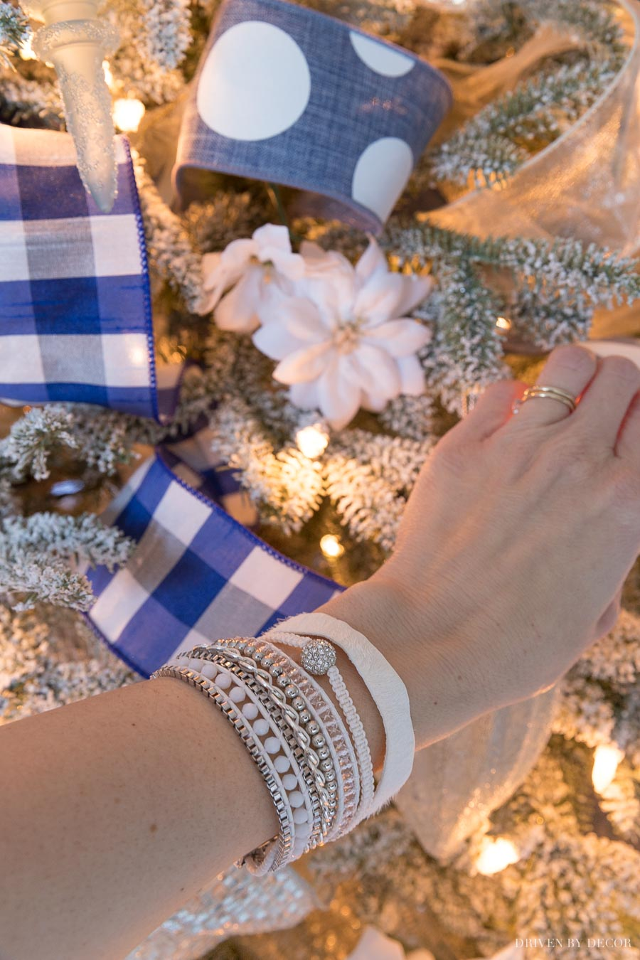 Love this gorgeous bracelet that gives the appearance of multiple stacked bracelets! Adding to my Christmas wish list!