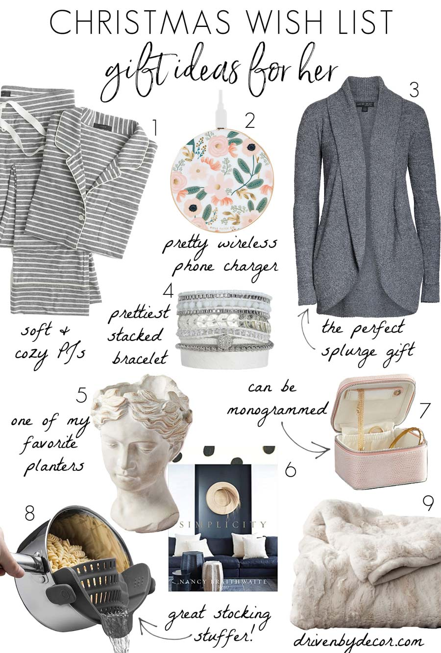 Love these Christmas wish list ideas for her - so many good ones!
