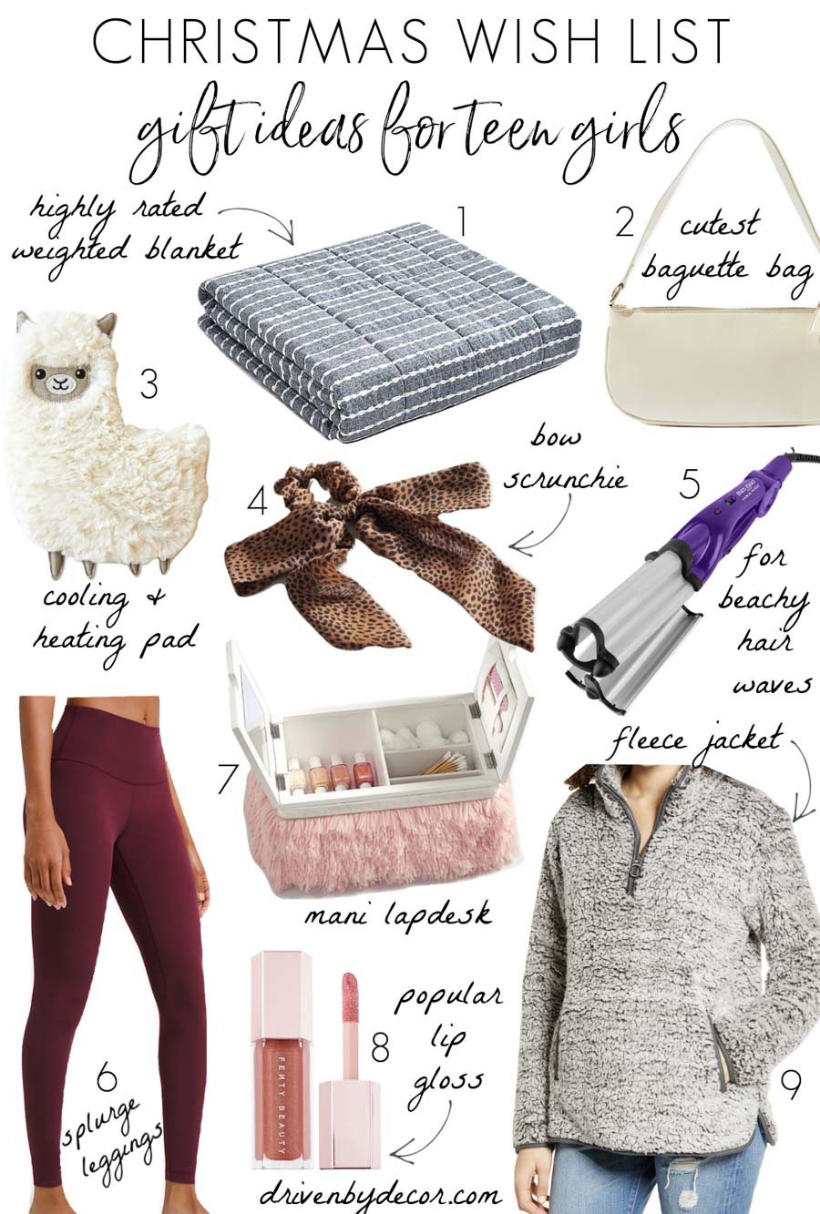 Great Christmas wish list ideas for teen girls!