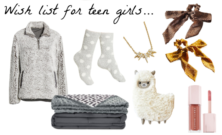 Great gift ideas for teen girls to add to your Christmas wish list!