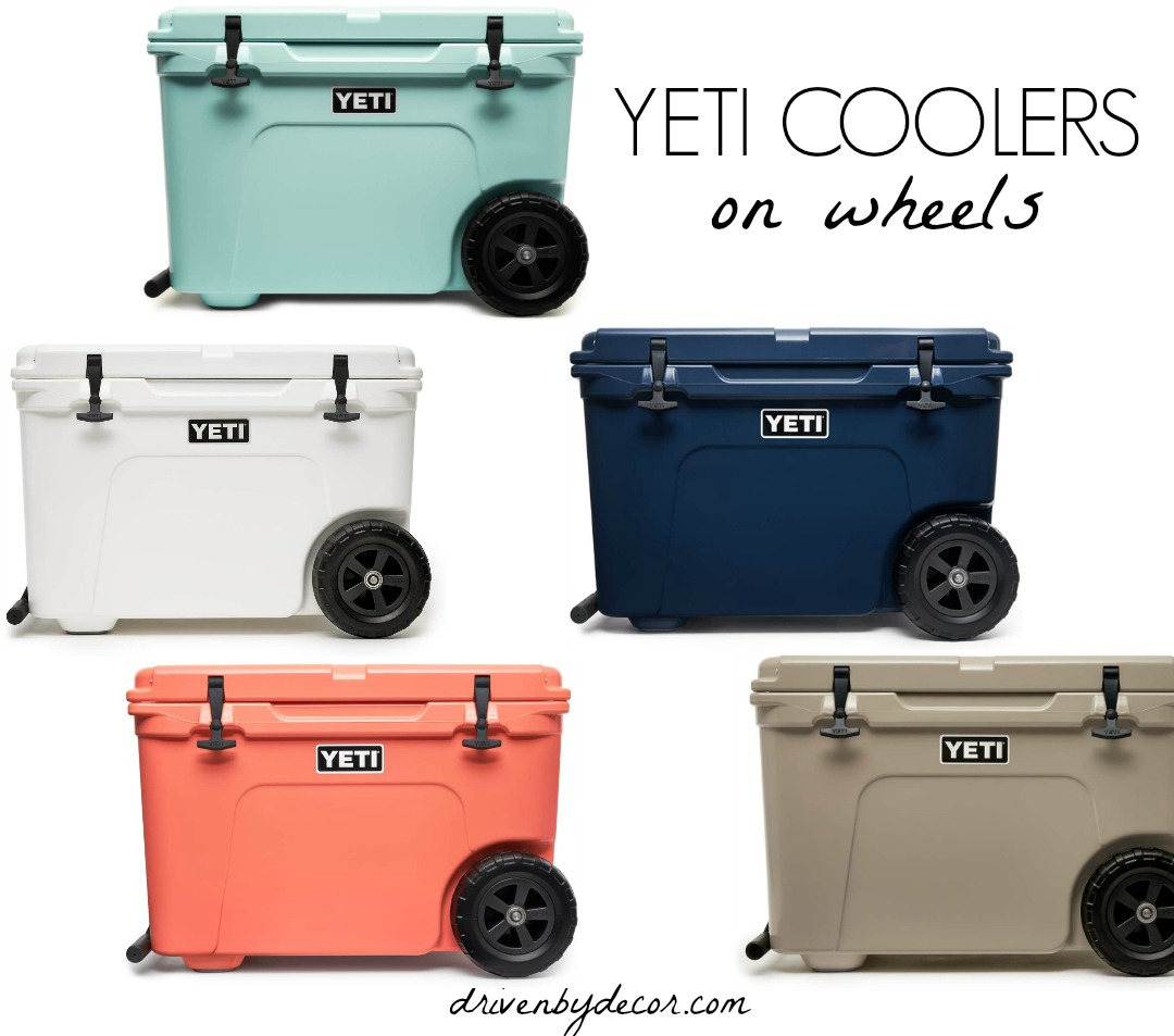 A Christmas wish list splurge - this Yeti cooler with wheels is amazing!