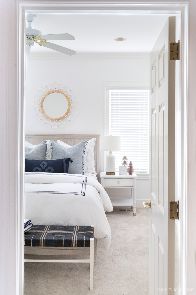 Come on in and let me show you around our newly made-over guest room!