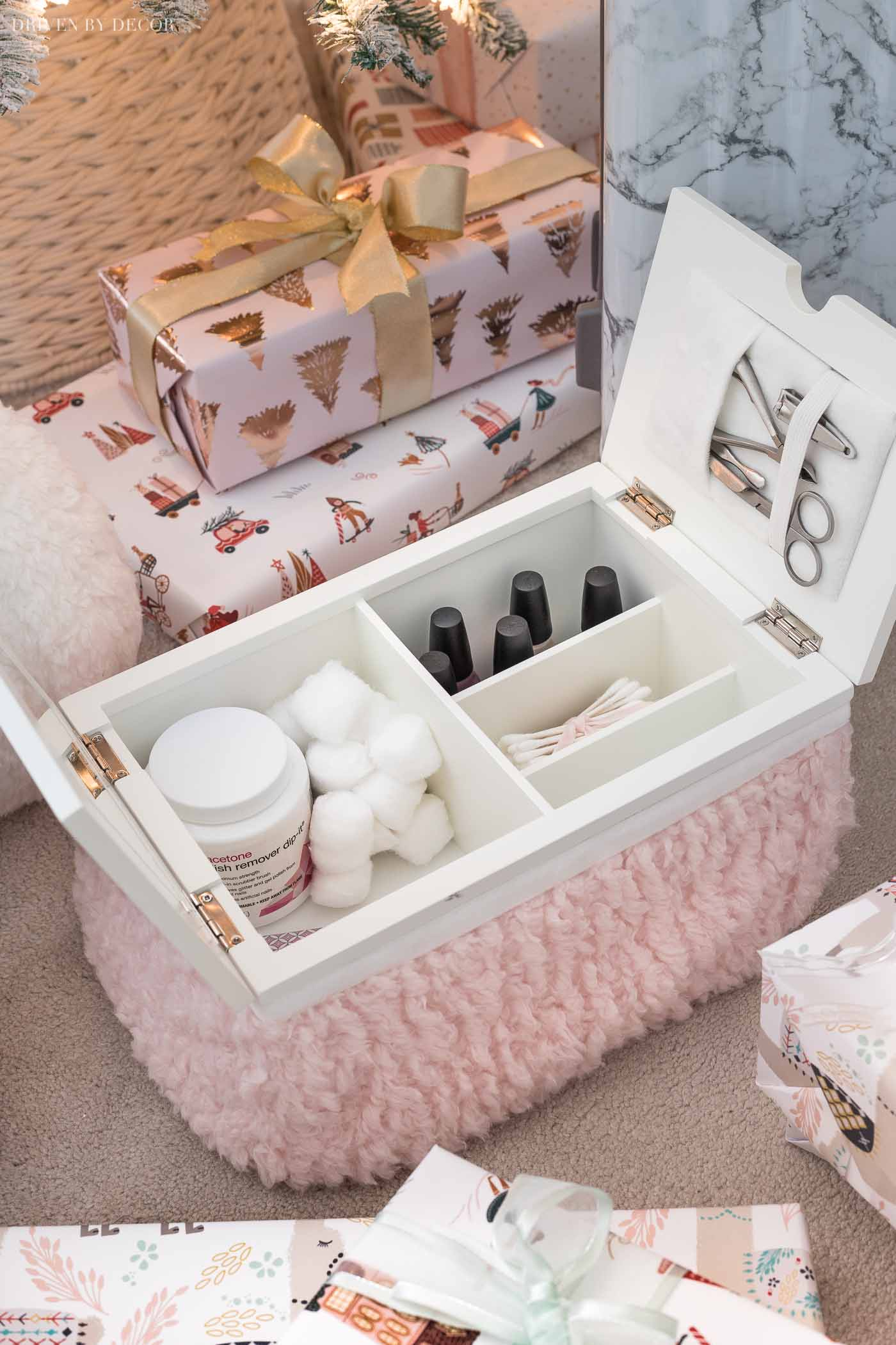 Love this mani-pedi lapdesk! Perfect gift for a teen girl!