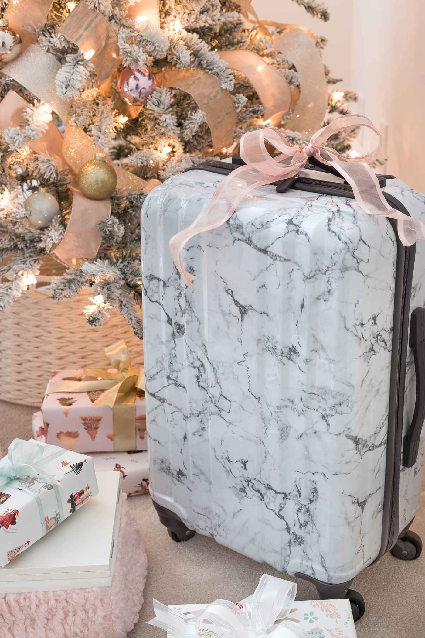 The prettiest marble carry-on suitcase at a great price! Perfect gift idea for teens!!