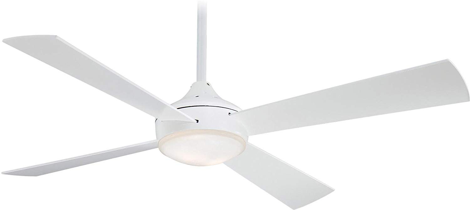 A great streamlined, stylish ceiling fan - one of ten pretty ceiling fan options in this post!