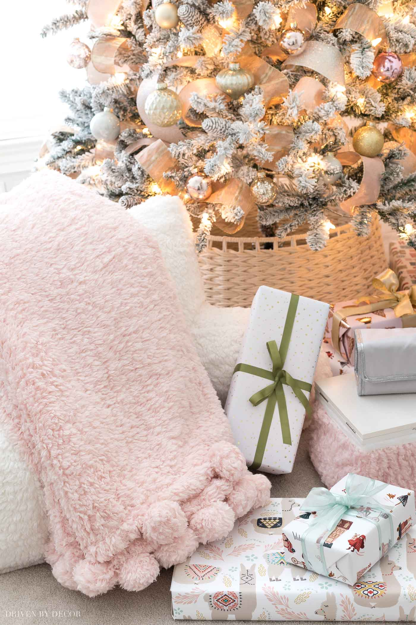 Super soft and cozy pom pom throw - one of the Christmas gift ideas for teen girls in this post!