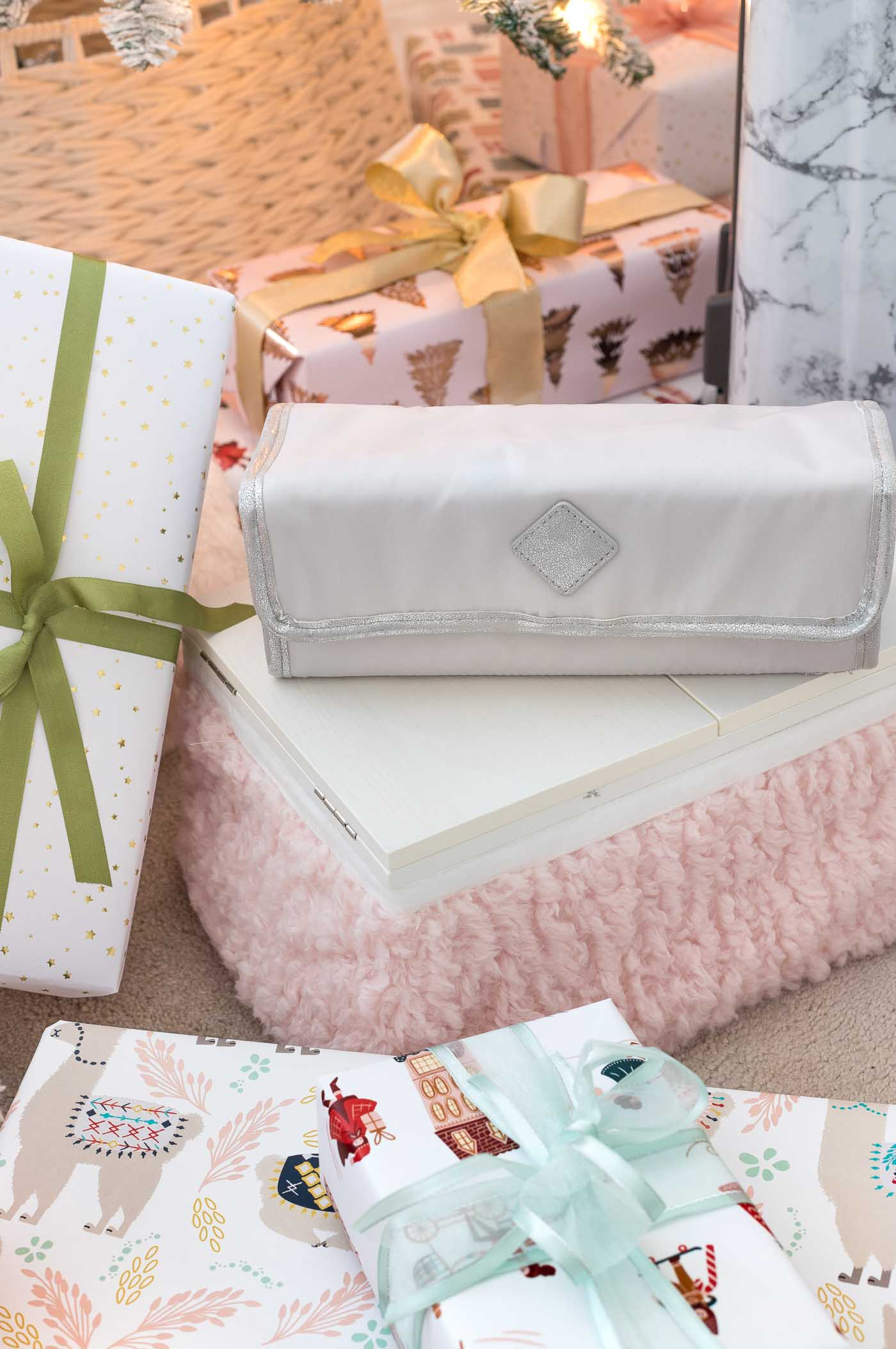 Super cute toiletry bag that rolls up for easy storage and travel!