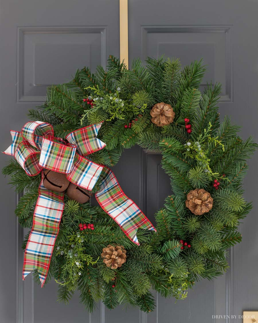 The most gorgeous Christmas wreath!