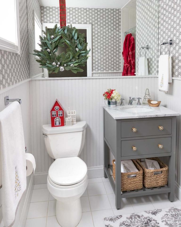 dekorasi rumah natal christmas decoration bathroom kamar mandi
