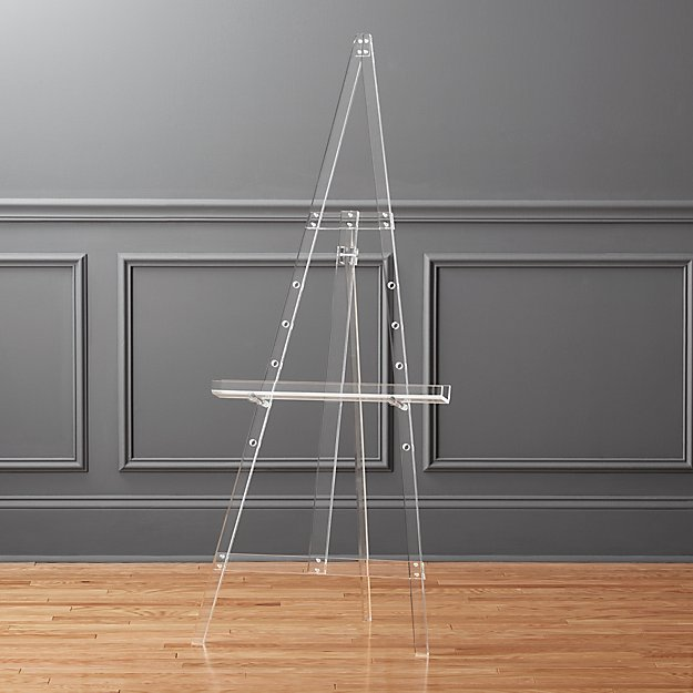 This acrylic easel is a stunner - perfect decor to fill an empty living room corner!
