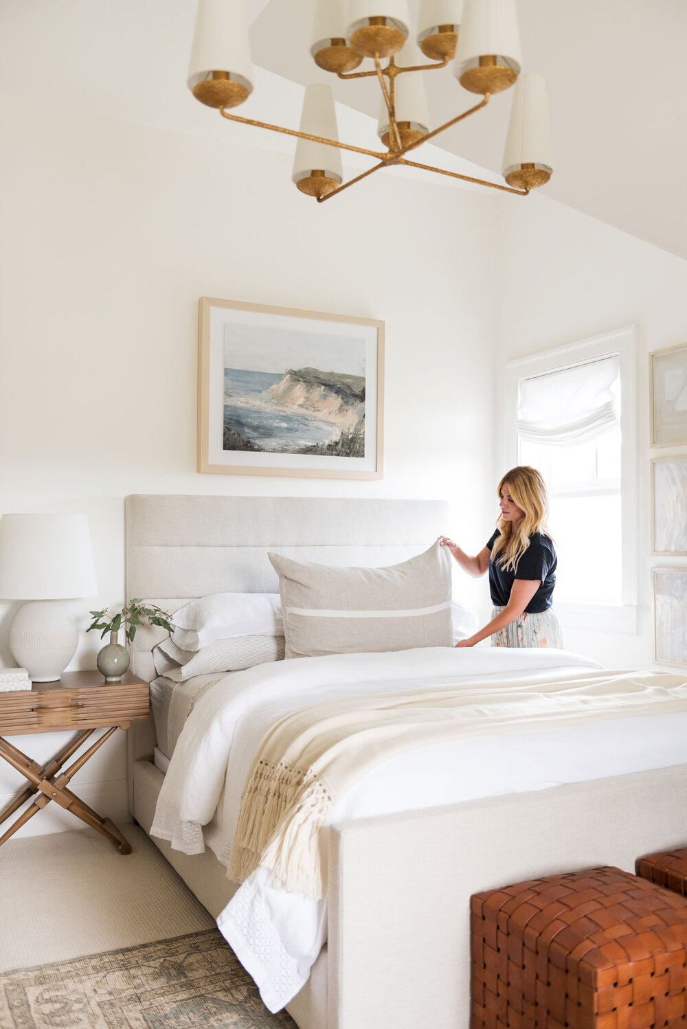 Love this channeled bed! One of my favorite 2020 decorating trends!