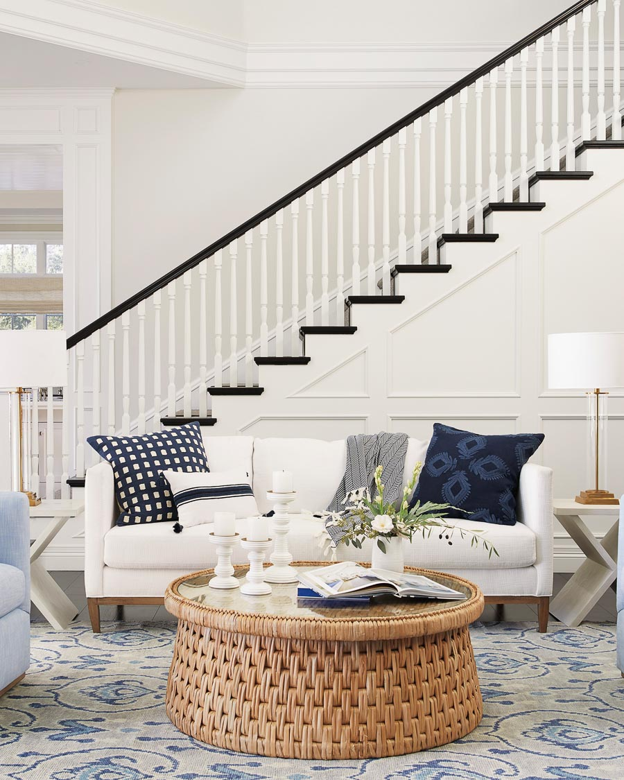 So in love with this round woven coffee table! Great post on decorating trends in 2020!