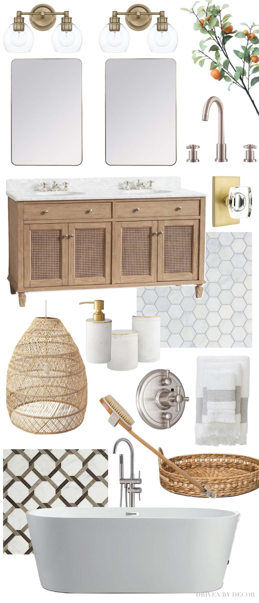 How to create an interior design mood board like this one! Post includes a step by step!