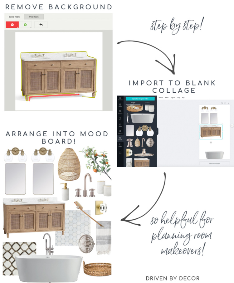 Creating interior design mood boards - a step by step tutorial!