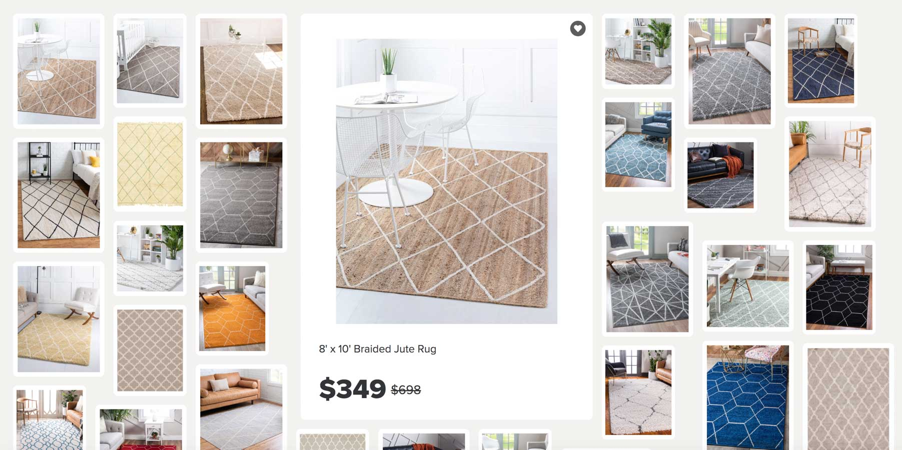 Love this way of shopping for rugs - such a great tool!