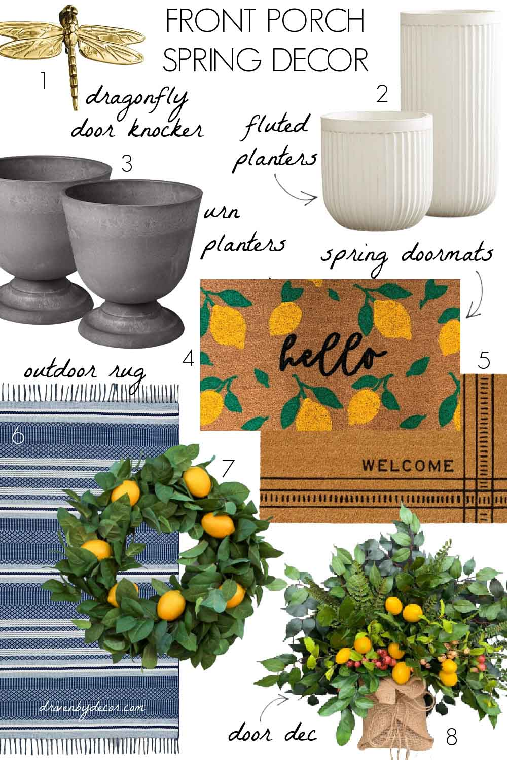 Spring decor favorites for your front porch!