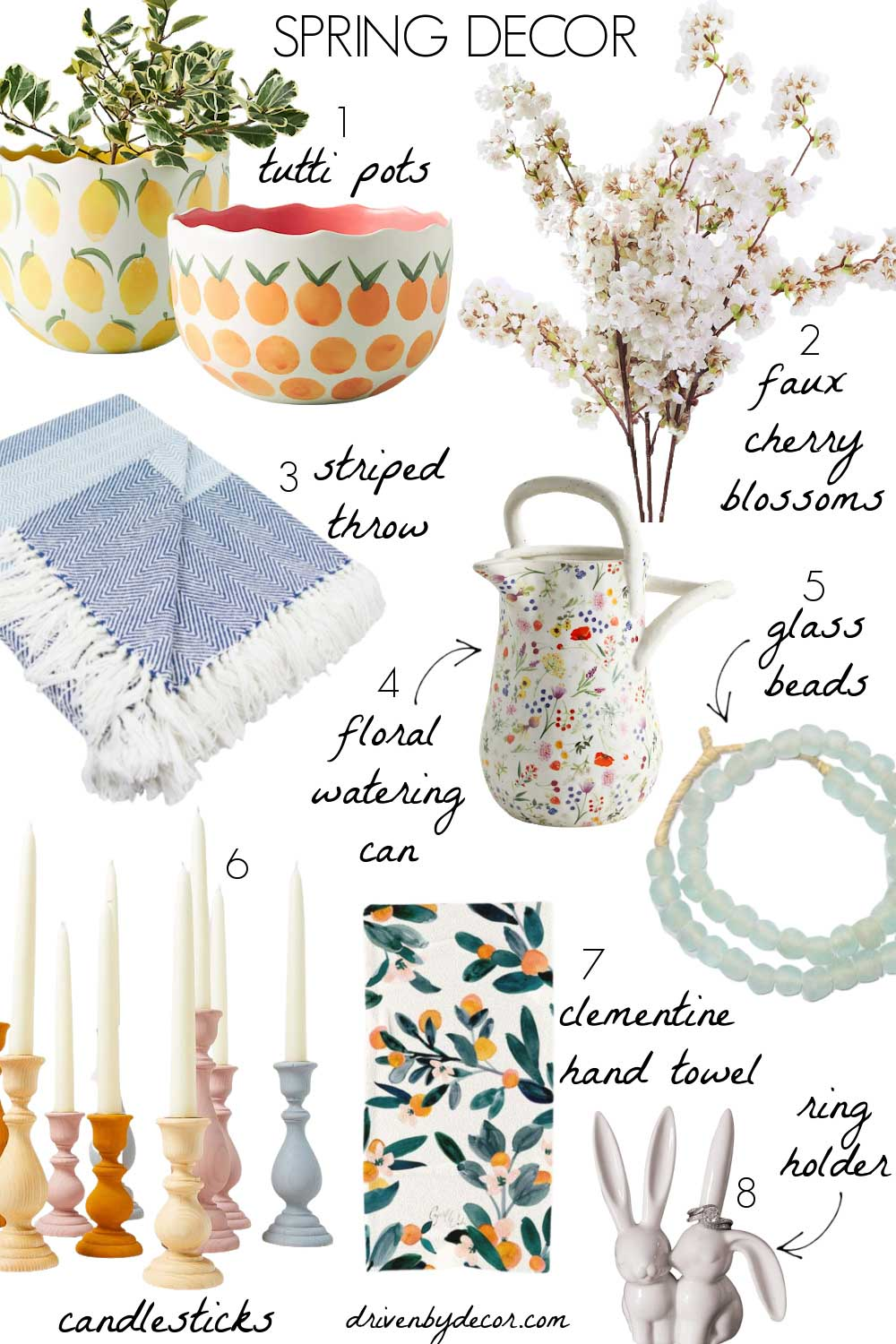 My favorite spring home decor accessories!
