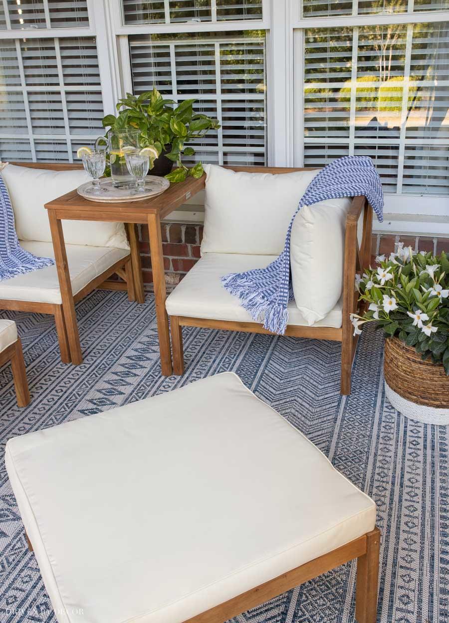 Love how versatile this outdoor furniture set is!