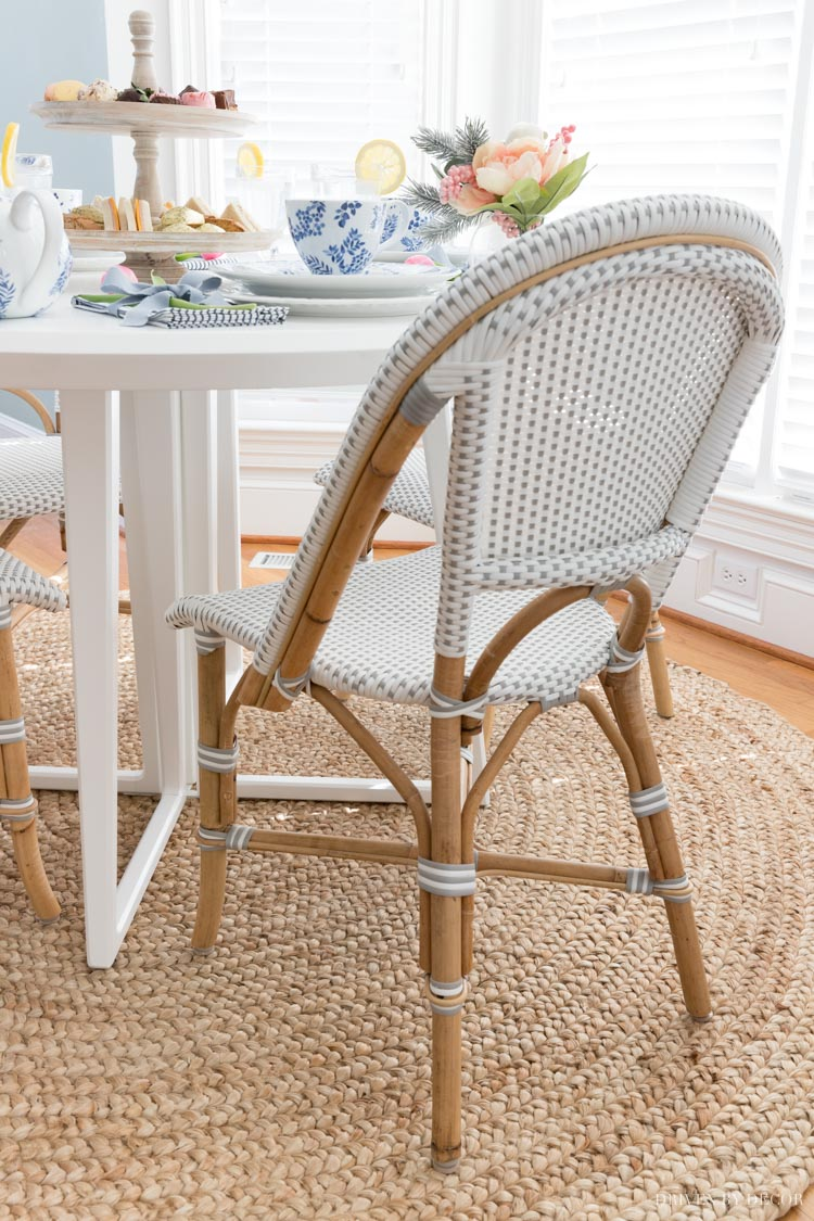 """Come see the """"before"""" and """"after"""" makeover of our breakfast nook!"""