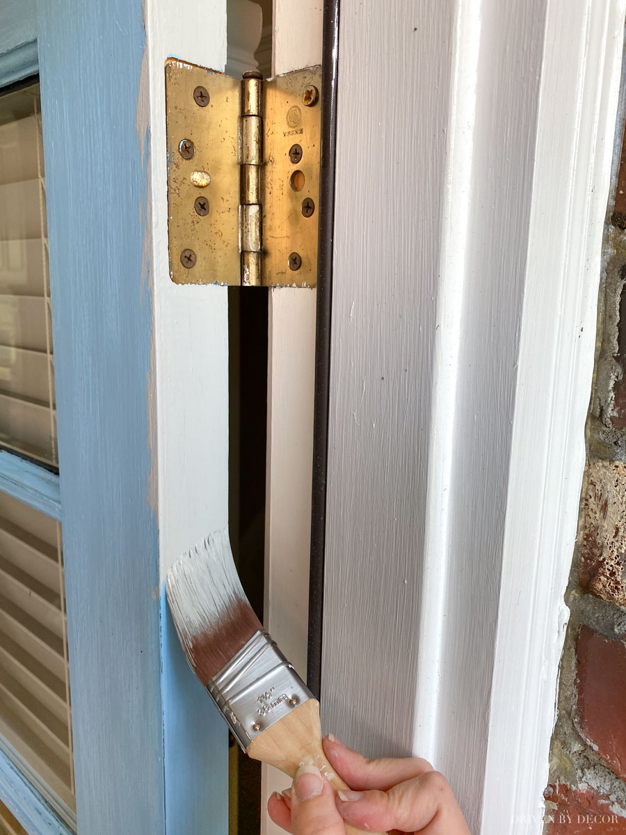 How to paint your front door step by step!