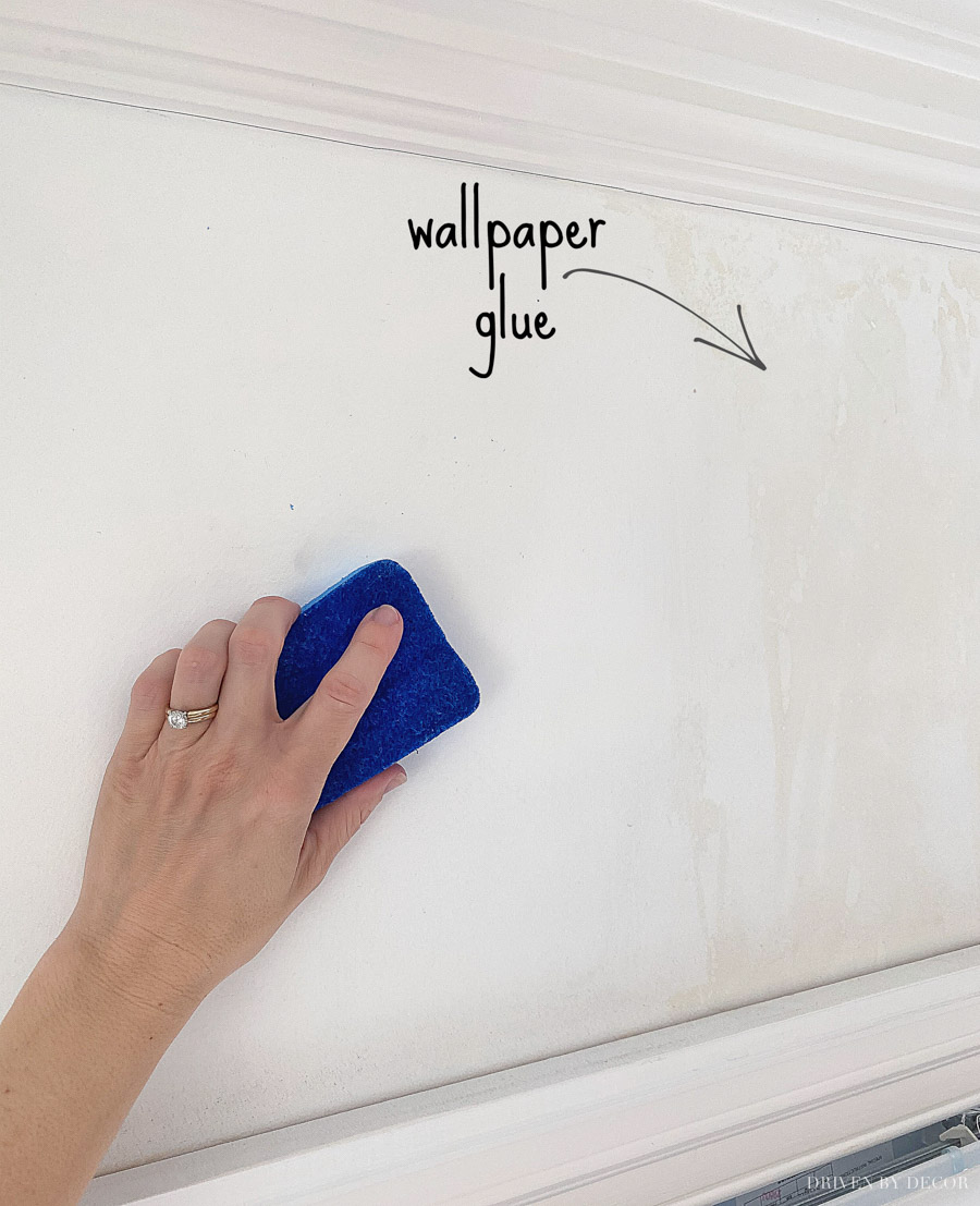 Great tips on how to remove wallpaper glue!