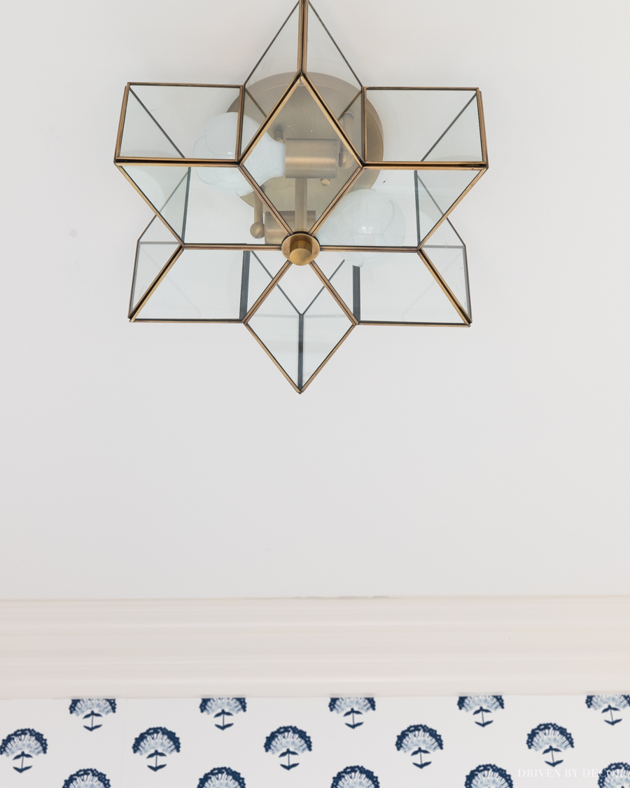 Gorgeous star flush mount light fixture!