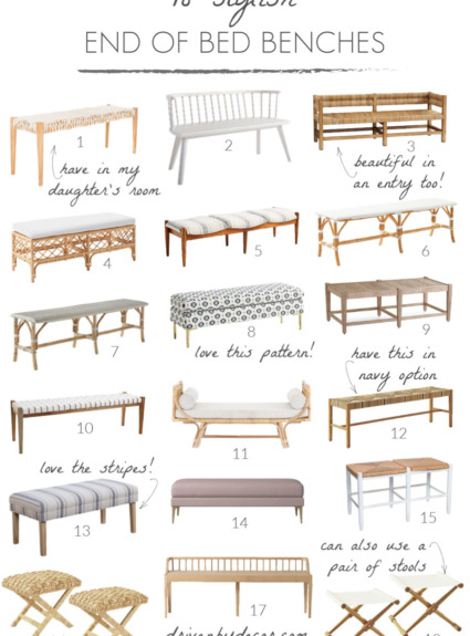 End of Bed Benches: My Stylish Favorites!