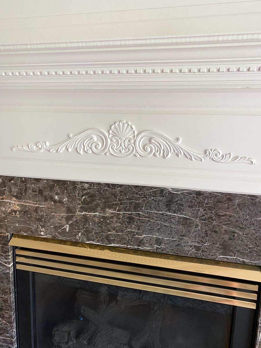 The dated appliques that we removed from our fireplace!