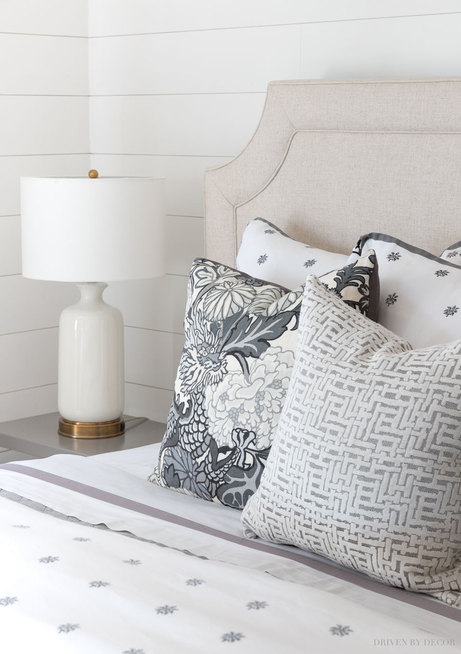 Love this gray crosshatch pillow that's over half off!
