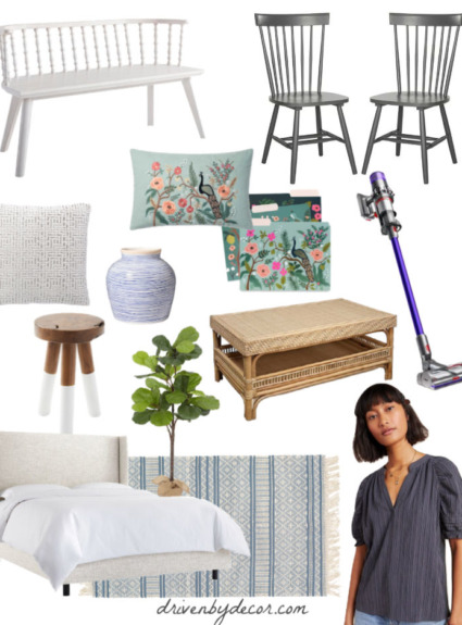Stylish End of Bed Benches, Tips for Taming Extra Cords & Cables, + Favorite Memorial Day Weekend Sales!