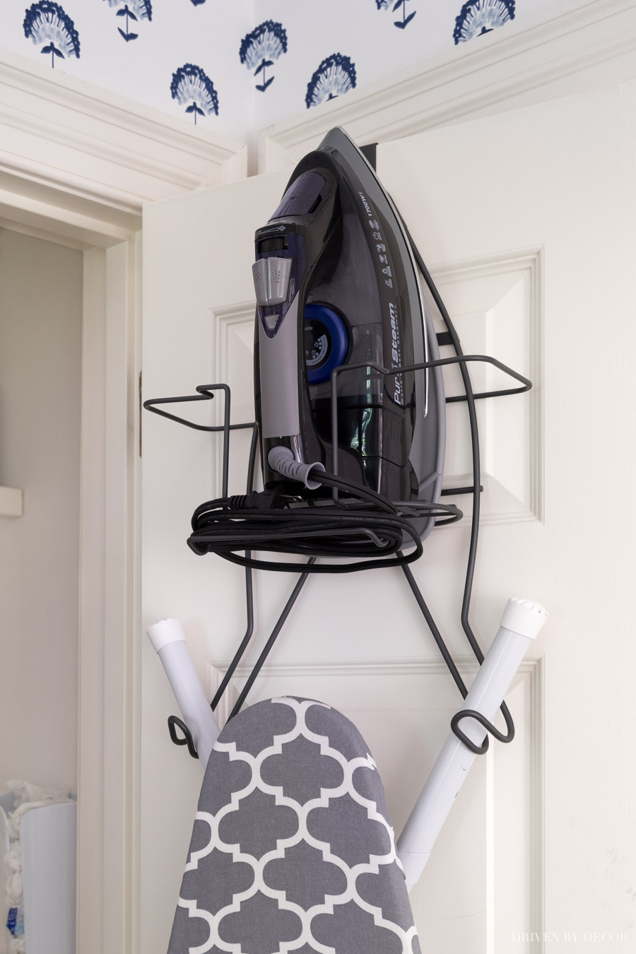 Awesome over the door hanger for your iron and ironing board!