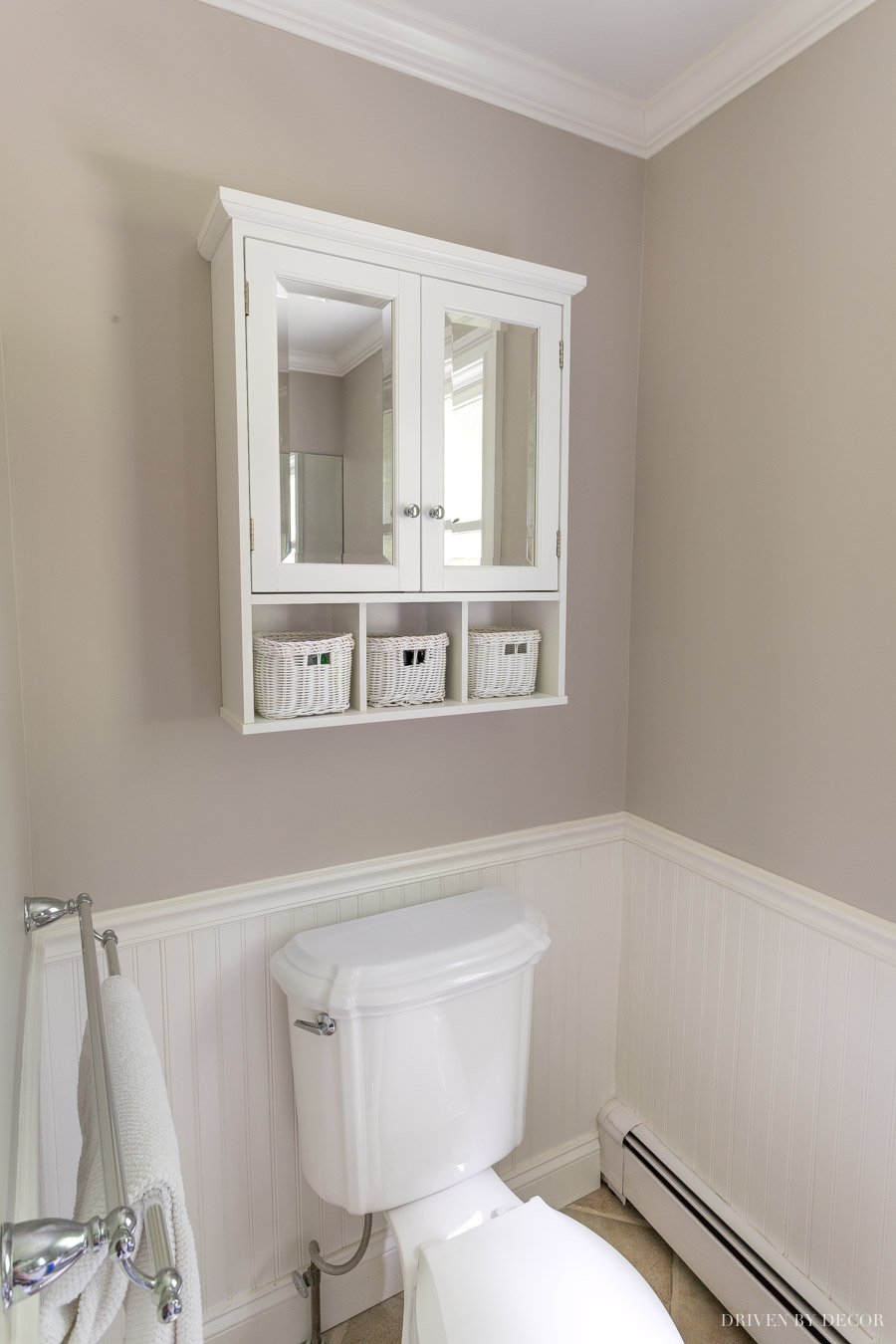 SO great for over the toilet storage in a bathroom!