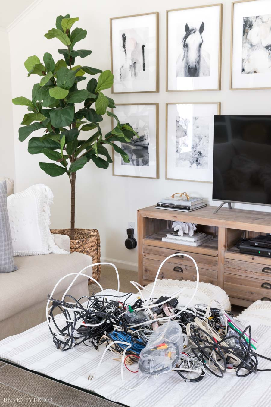 Great tips on how to organize all of your cords!