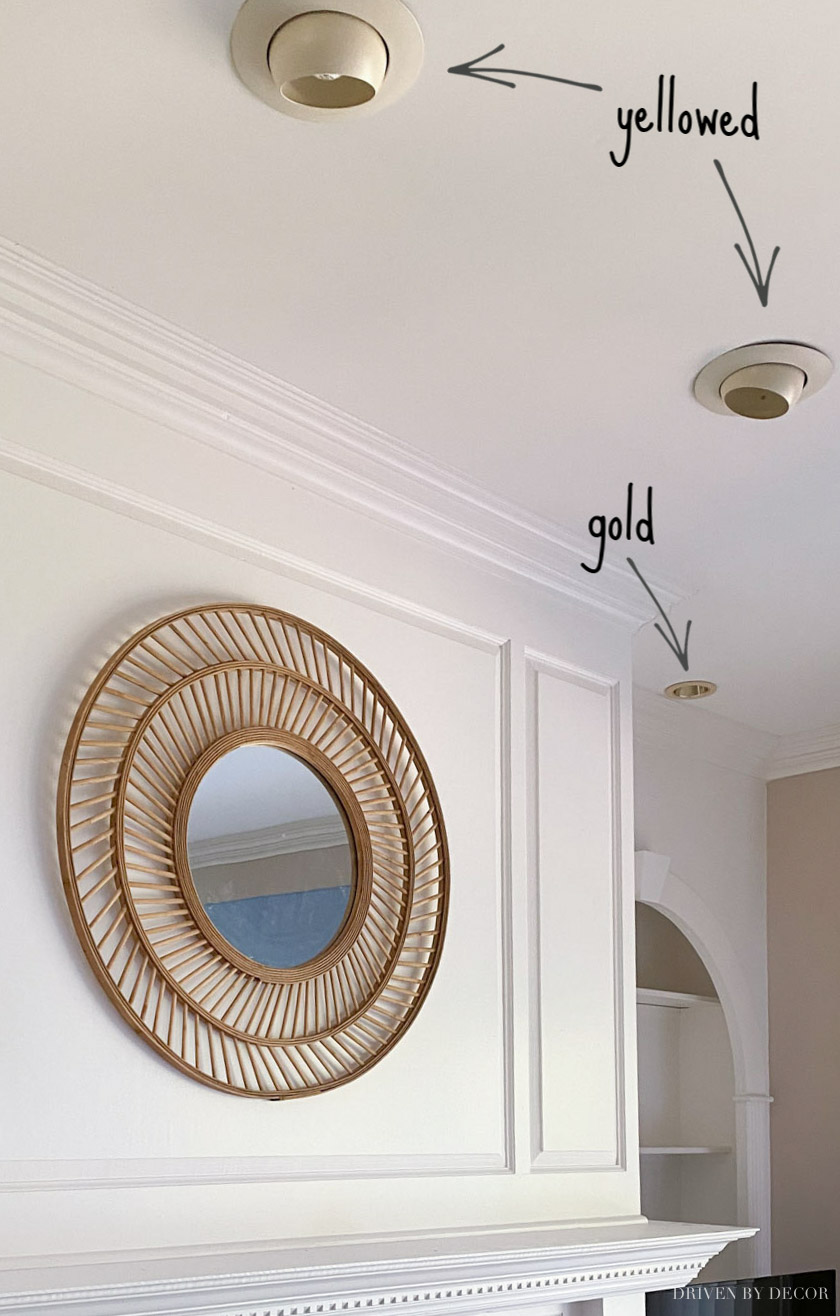 Love what she did to make these old recessed lights look like new!