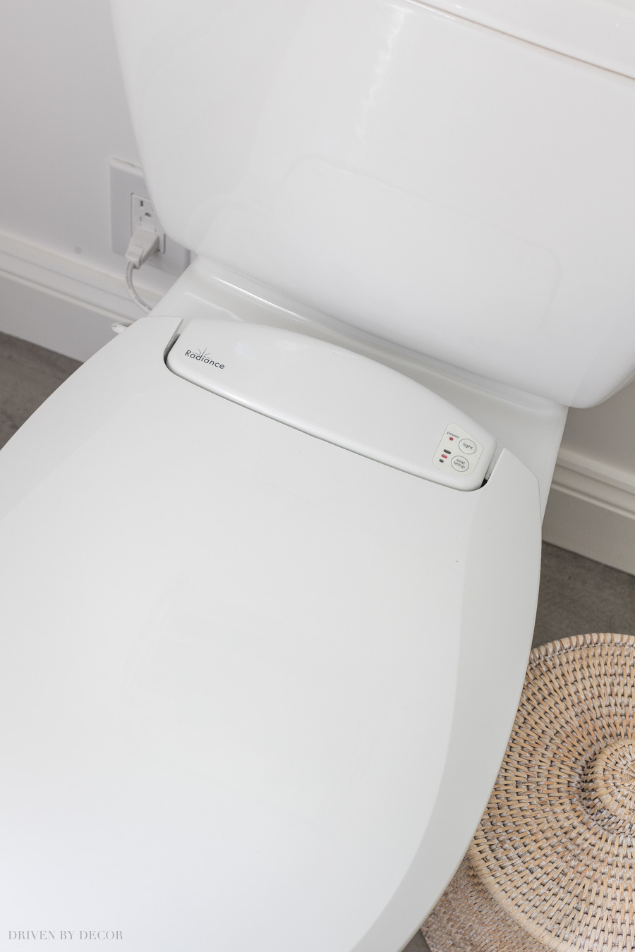 A heated toilet seat - love this idea!