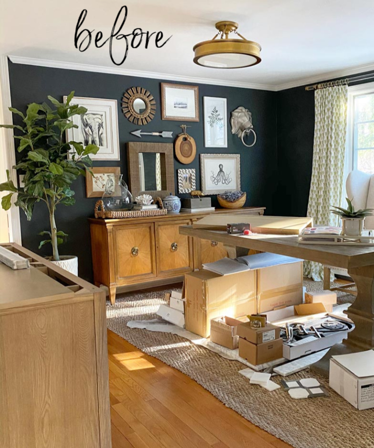 Love the simple updates to this home office!