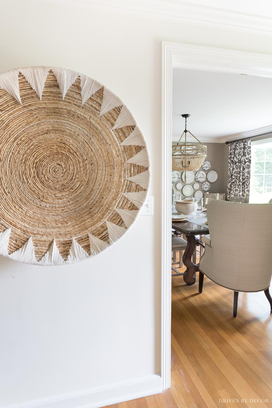 Love this huge woven wall basket - so pretty! It's linked in the post!