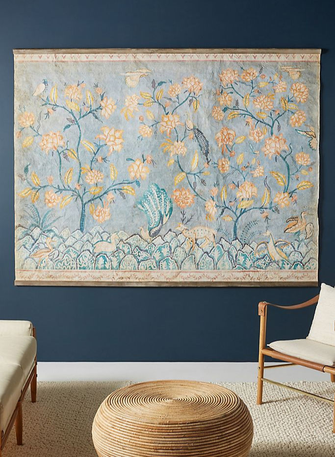 Colorful tapestry that would be gorgeous for a bare living room or bedroom wall!