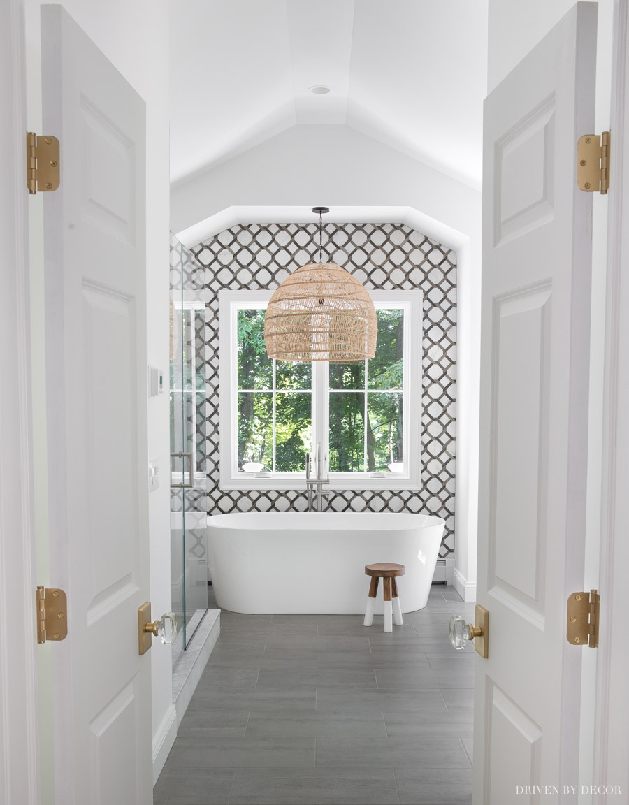 The double doors leading to our master bathroom!