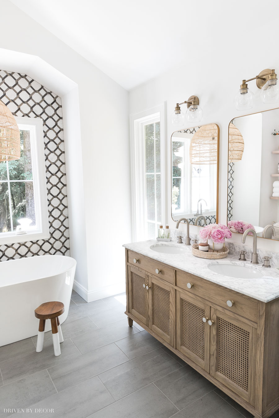 Love this double vanity in her master bathroom!