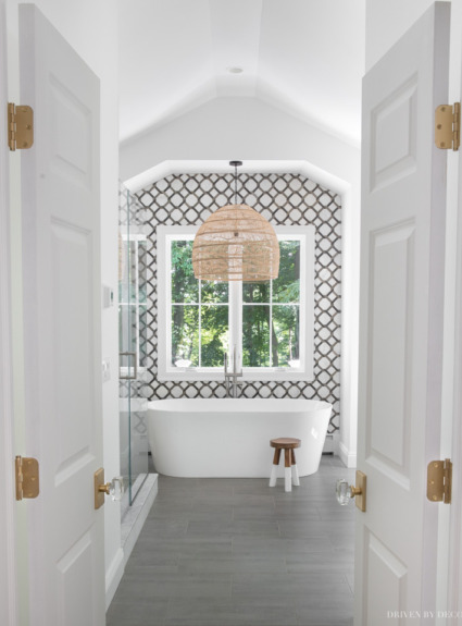 Our master bathroom reveal!!
