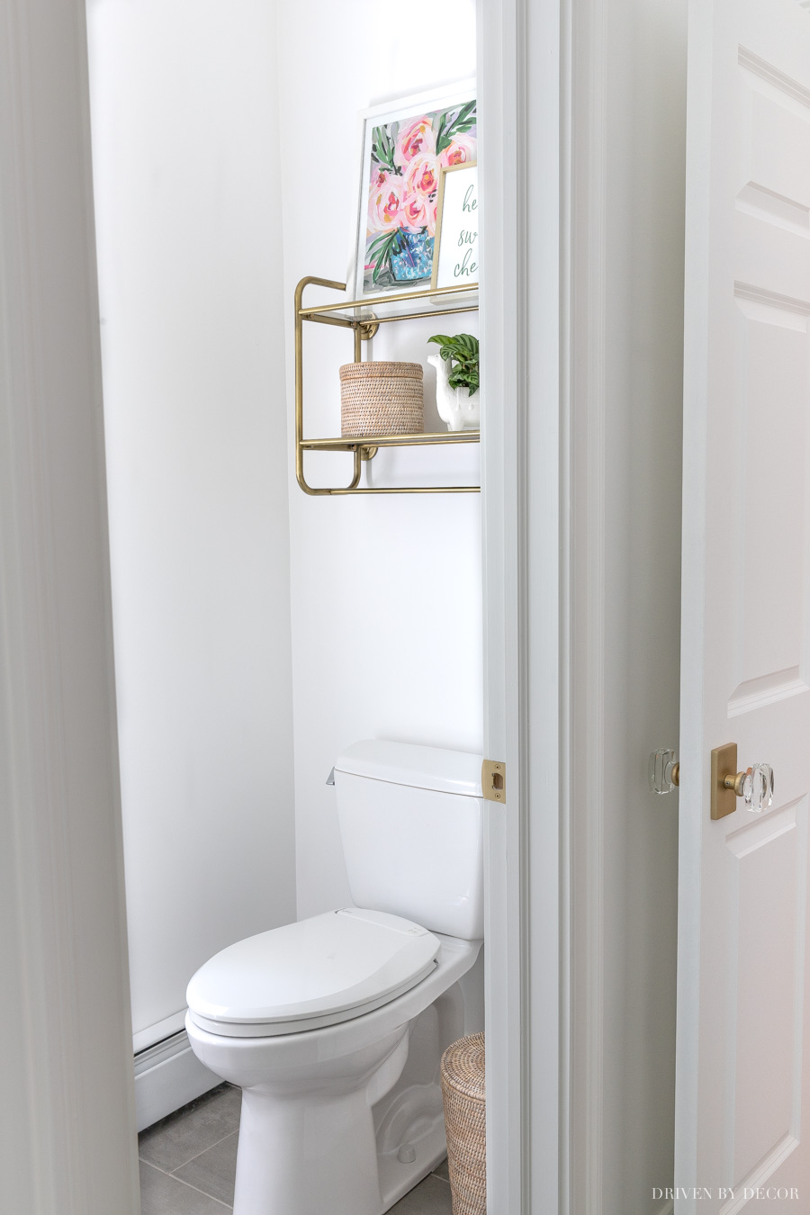 The cutest master bathroom toilet room!